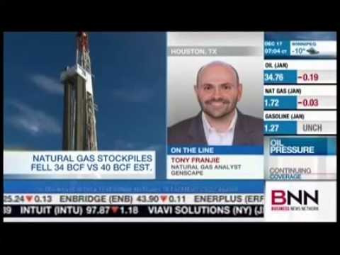Tony Franjie, Natural Gas Analyst, Genscape on Canadian BNN