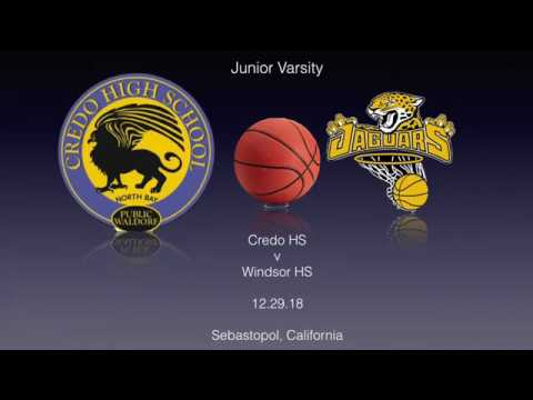 Credo High School vs Windsor High School(JV).12.29.18