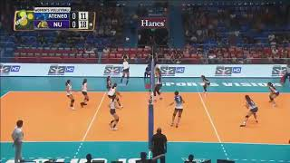 Ponggay Gaston breaks down the wall!! || ATENEO vs NU