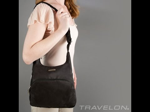 fe45c60b40b Travelon Anti-Theft Essential Travel Messenger Bag - RFID Blocking - YouTube