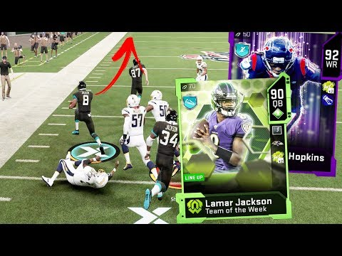 LAMAR JACKSON WITH THE CRAZIEST HURDLE!!! Madden 20 Gameplay
