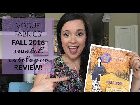 Vogue Fabrics' Swatch Catalogue FIRST IMPRESSION REVIEW!