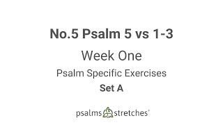 No.5 Psalm 5 vs 1 3 Week 1 Set A