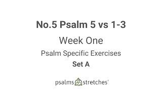 No.5 Psalm 5 vs 1 3 Week 1 Set A