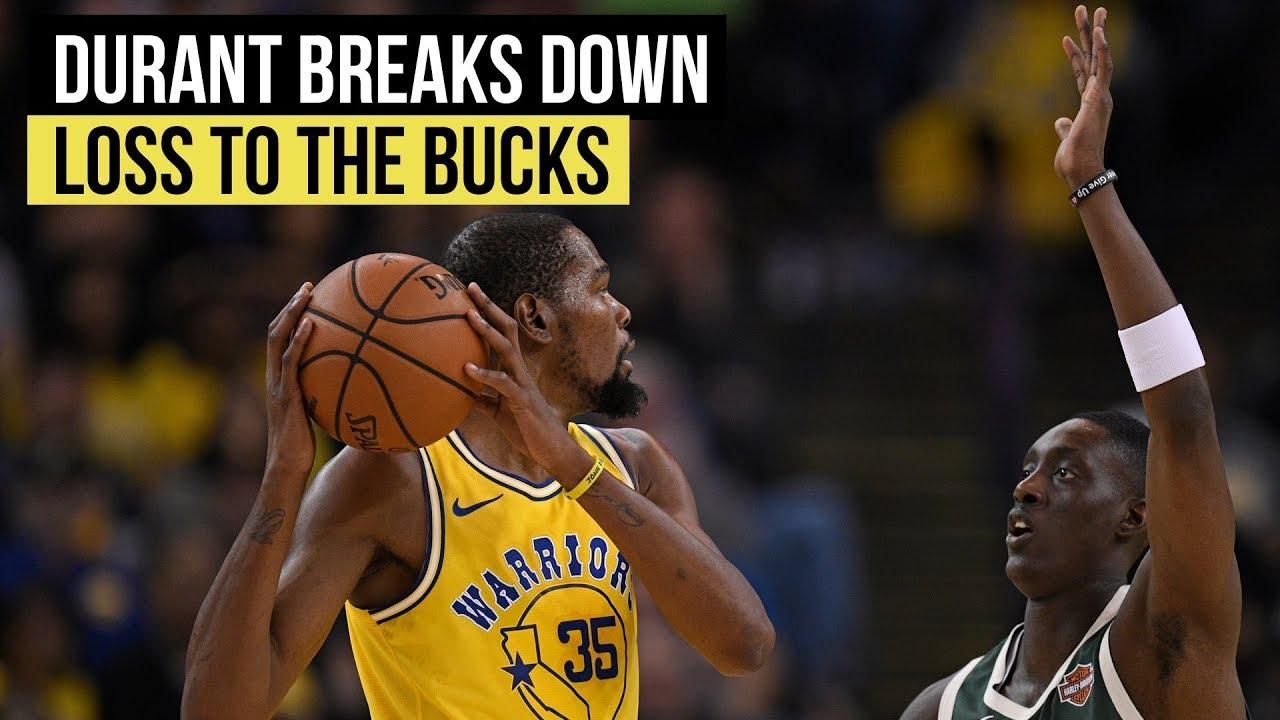 Warriors' Kevin Durant breaks down loss to Milwaukee Bucks