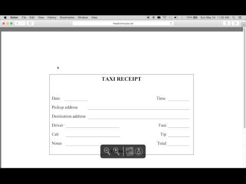 How to Write a Taxi Receipt Form | PDF Template