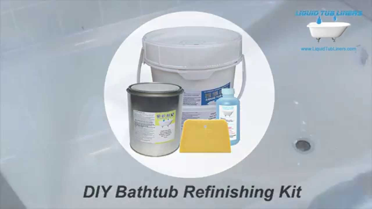 Liquid Tub Liners bathtub refinishing kit - YouTube