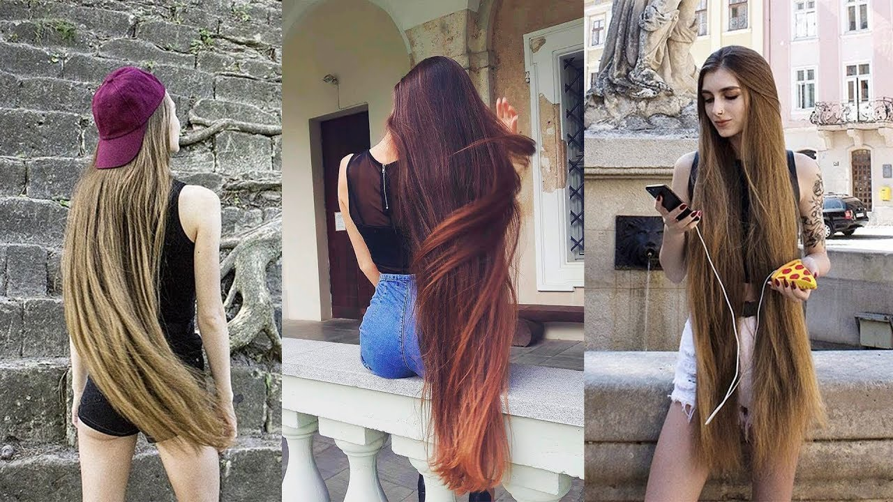 the most beautiful extremely long hair girls of internet - youtube