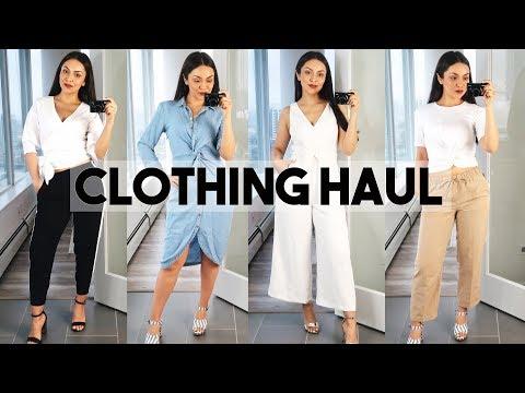SPRING TRY ON CLOTHING HAUL! Aritzia, Zara, Adidas - TrinaDuhra