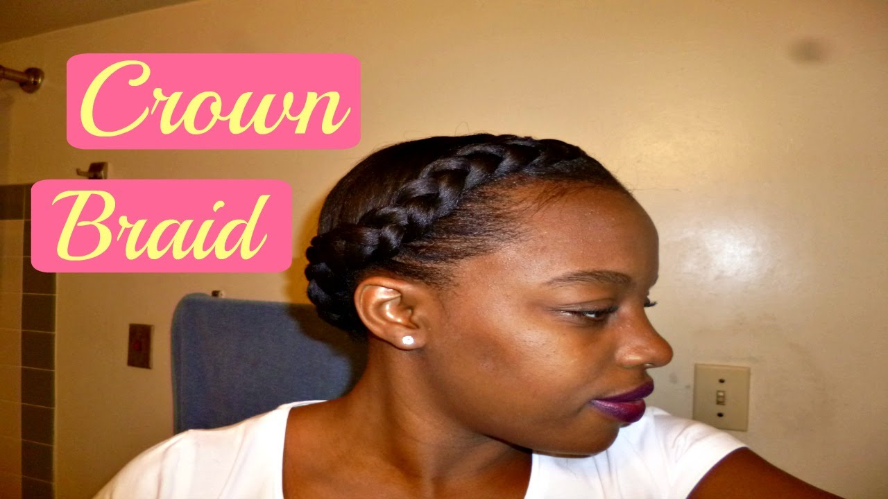 Crown/Halo Braid Tutorial On Relaxed Hair | Best ...