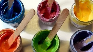 How to make BODY PAINT - Home made Face Paint for children (Party, Carnival, Saint Patrick's Da