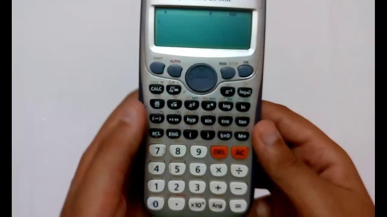 كيف تسخدم الاله الحاسبة من الالف الي الياء Casio Youtube