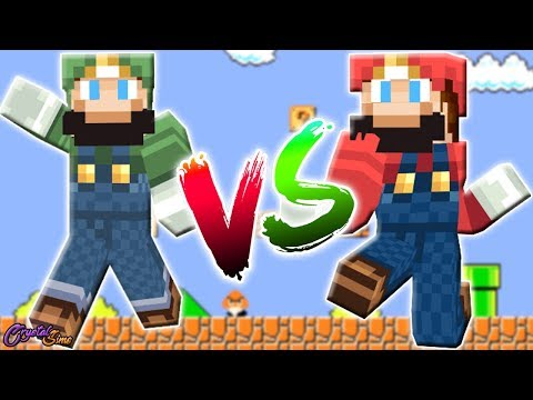 SUPER MARIO BROS VS LUIGI | LUCKY BLOCKS | CRYSTALSIMS
