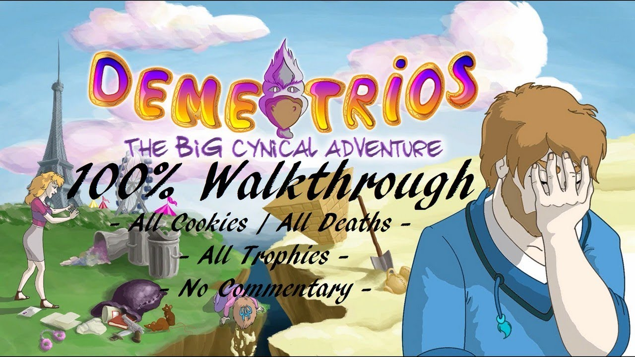 DEMETRIOS: THE BIG CYNICAL ADVENTURE - 100% Walkthrough (Platin Trophäe /  1000G Erfolg Guide)