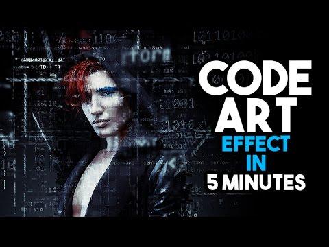 Code Art Effect in Photoshop tutorial