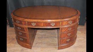 Victorian Partners Desk Oval Mahogany Desks Writing Table Furniture