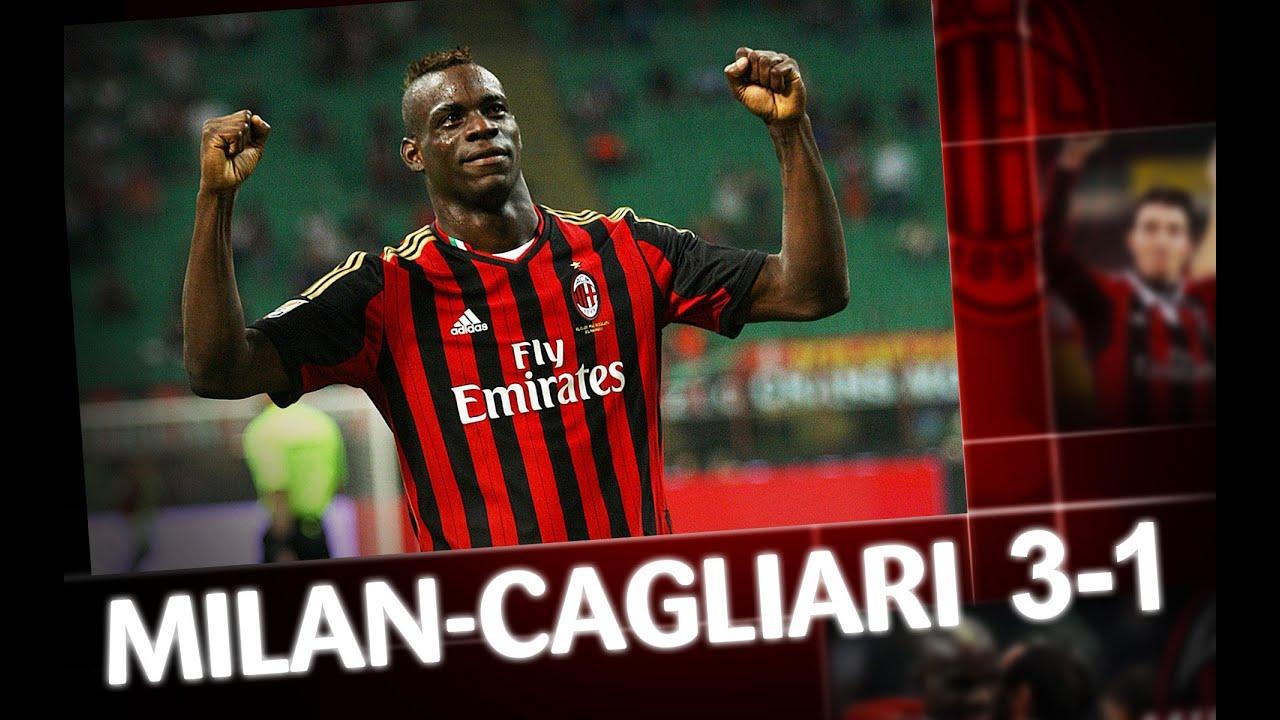 Milan Vs Cagliari: Milan-Cagliari 3-1 Highlights - YouTube