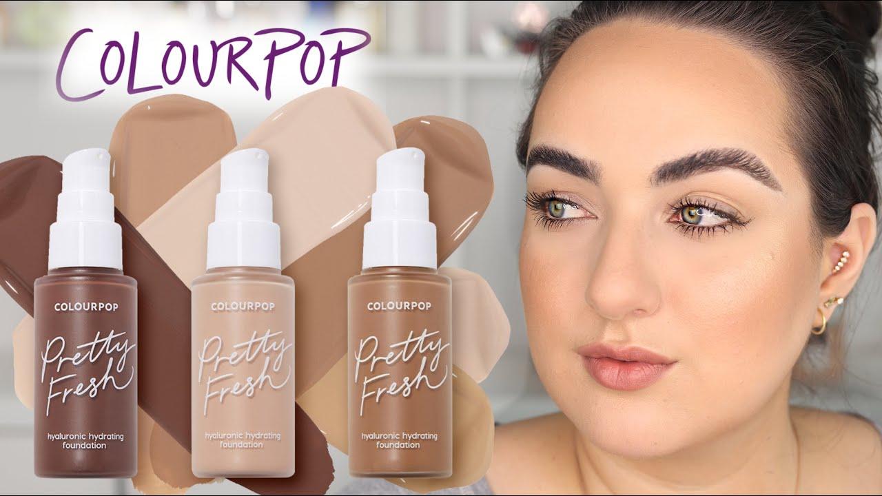 NEW! Colourpop Pretty Fresh Hyaluronic Hydrating Foundation Review! 12+ Hour Wear Test! | Patty