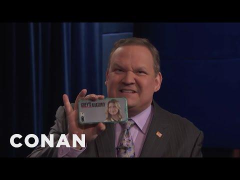 Andy Feels Betrayed By Ellen Pompeo  - CONAN on TBS