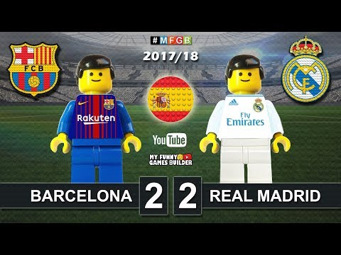 Barcelona vs real madrid 2-2 • el clasico • laliga 2018 (06/05/2018) goals elclasico lego football
