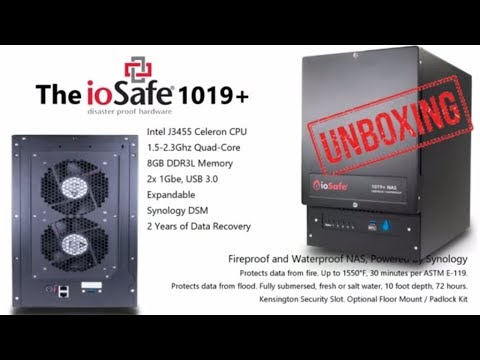 Unboxing the ioSafe 1019+ Fireproof and Waterproof NAS Drive for Business