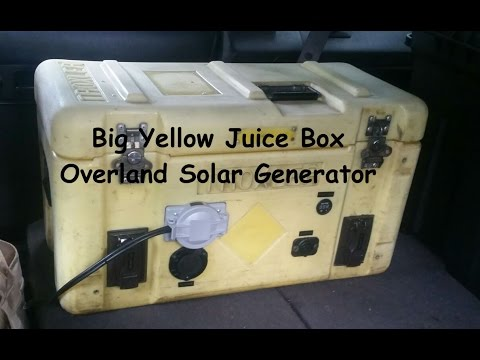 Big Yellow Juice Box ||| Overland Solar Generator