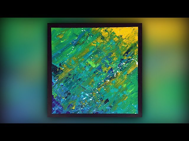 Abstract Acrylic Painting / Easy & Fun / Palette Knife Technique / Demo #057
