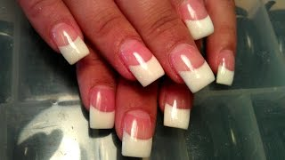 STEP BY STEP FRENCH SOLAR NAILS PINK & WHITE GLITTER
