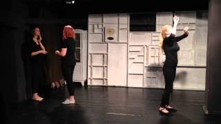 Отчетный урок в студии актерского мастерства театра Постскриптум: упражнение на ПФД