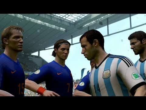 FIFA World Cup 2014: Argentina vs Netherlands (Semifinals) Simulation (EA FIFA World Cup 2014)