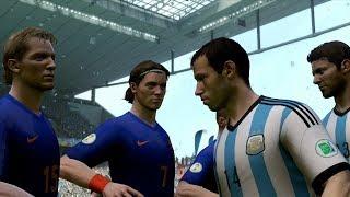 Video FIFA World Cup 2014: Argentina vs Netherlands (Semifinals) Simulation (EA FIFA World Cup 2014) download MP3, 3GP, MP4, WEBM, AVI, FLV Agustus 2017