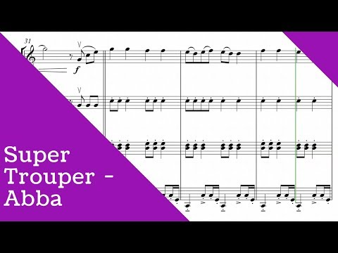 ABBA - Super Trouper for string quartet (SHEET MUSIC)