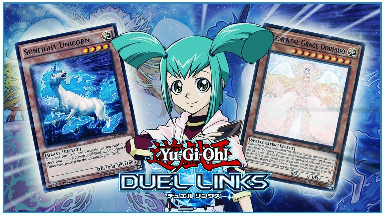 [Yu-Gi-Oh! Duel Links] LUNA (RUKA) CARDS LEAKED! SUNLIGHT UNICORN,  ELEMENTAL GRACE DORIADO & MORE!!