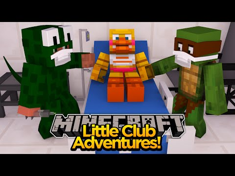 Minecraft Little club Adventures - Little Lizard & Tiny Turtle OPERATE ON CHICA!!!