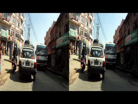 Kathmandu / Nepal - Freak Street - Bodnath (3D stereo version)