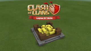 How to make a clans of clans gold storage level 1 in Minecraft PE
