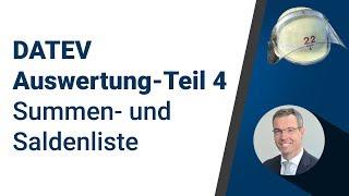 DATEV Auswertung - Teil 4 - Summen- und Saldenliste   Peter Schaaf & Managementpartner GmbH