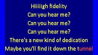 Elvis Costello  - High Fidelity (karaoke)
