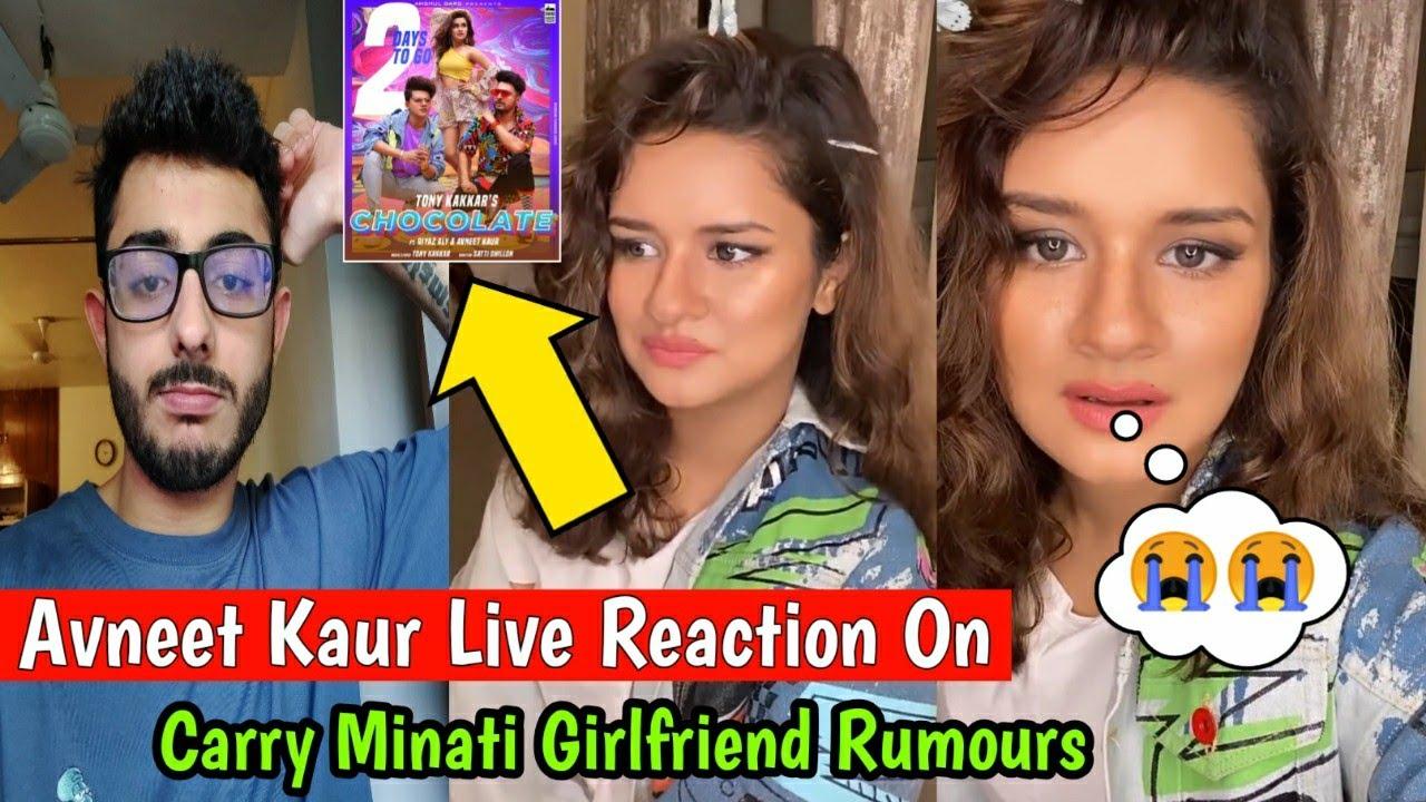 Avneet Kaur Live Reaction On Rumours Carry Minati Girlfriend | Chocolate Song | Riyaz Aly