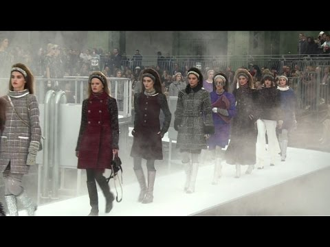 Space-age Chanel show lifts off at Grand Palais in Paris