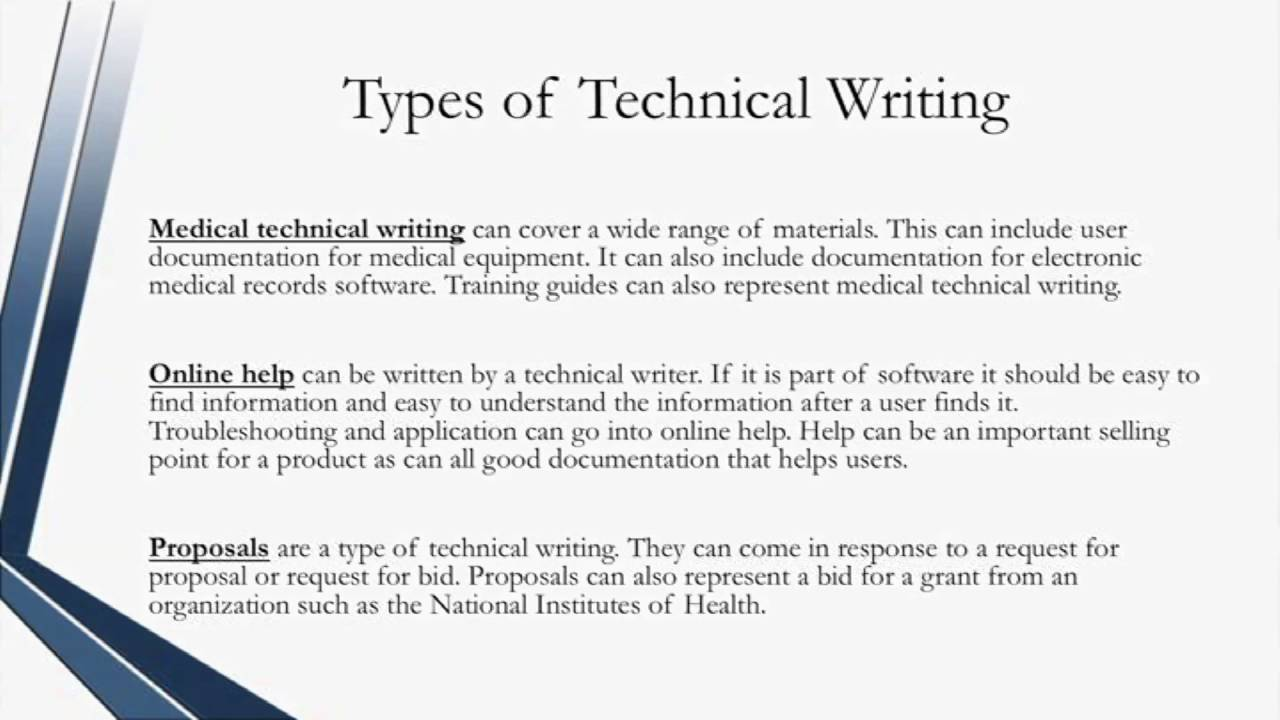 Certified Technical Writer - Types of Technical Writing - YouTube