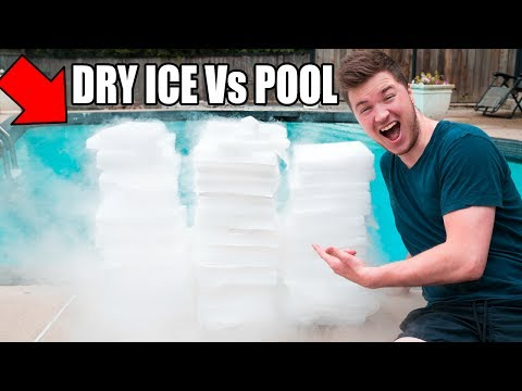 Thumbnail: 1,500 POUNDS OF DRY ICE Vs POOL CHALLENGE! 😮