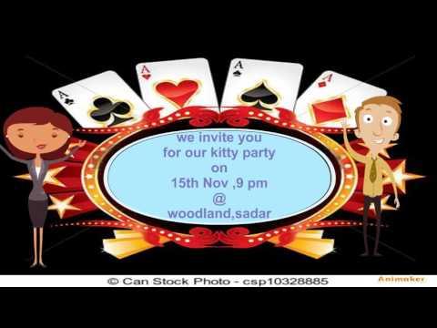 15th nov kitty party YouTube – Casino Themed Party Invitations