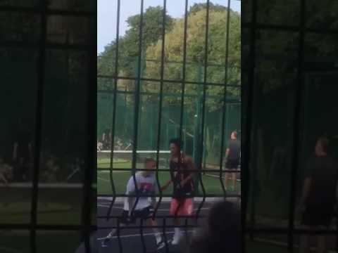 Justin Bieber Plays Basketball In Dublin