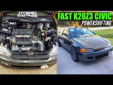 FAST STOCK K20Z3 CIVIC RIPPING THROUGH THE STREETS