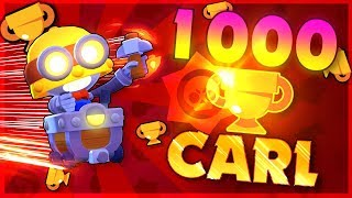1000 TROPHY CARL! Best Carl Player in Brawl Stars!