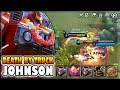DEATH BY TRUCK  JOHNSON BUILD   GAMEPLAY   TOP 3 GLOBAL   MOBILE LEGENDS