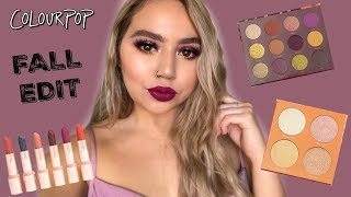 NEW COLOURPOP FALL EDIT COLLECTION | FIRST IMPRESSIONS + SWATCHES | Makeupbytreenz