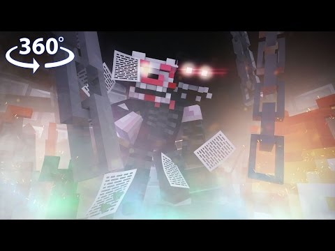360° Five Nights At Freddy's 2 - MANGLE VISION - 360° Minecraft Video