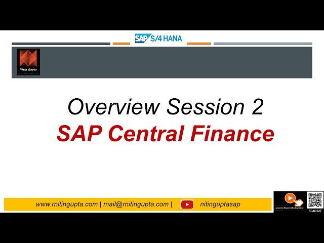 SAP S4HANA 1610   Central Finance Session 2